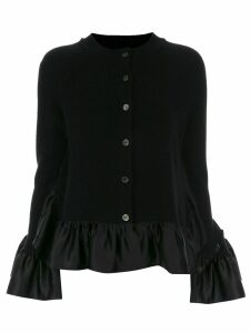 Goen.J Sculptural ruffled knit cardigan - Black