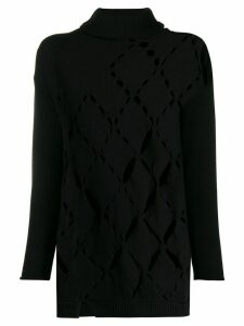 Pierantoniogaspari cut-out knitted jumper - Black