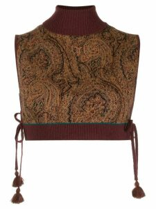 Etro paisley intarsia knitted top - Brown