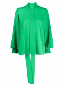 Emilia Wickstead Brunhilda pussy-bow blouse - Green
