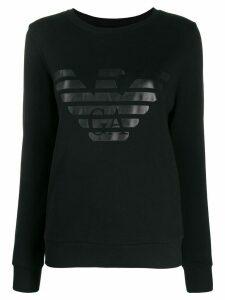 Emporio Armani signature logo sweatshirt - Black