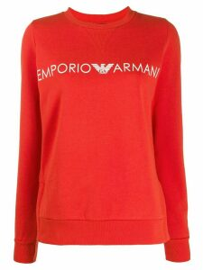 Emporio Armani signature logo sweatshirt - Red