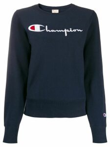 Champion embroidered logo sweatshirt - Blue