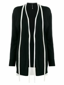 Pierantoniogaspari two-tone knit cardigan - Black