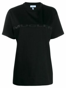 Mugler logo printed T-shirt - Black