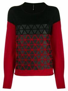 Pierantoniogaspari colour-block relaxed-fit jumper - Black