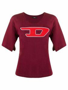 Diesel logo T-shirt - Red