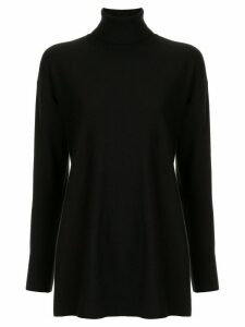 Le Ciel Bleu knitted turtleneck top - Black