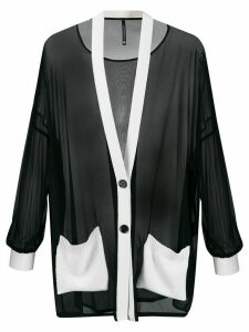 Pierantoniogaspari sheer piped trim cardigan - Black