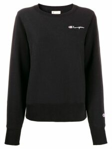 Champion logo embroidery sweatshirt - Black