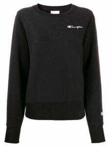 Champion logo embroidery sweatshirt - Black