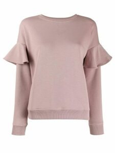 Red Valentino RED(V) ruffle detail sweater - Pink