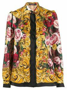 Dolce & Gabbana silk floral print shirt - Black