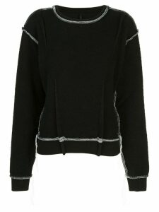 Unravel Project contrast stitch sweatshirt - Black