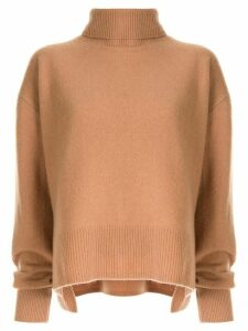 Le Ciel Bleu knitted turtleneck top - Brown