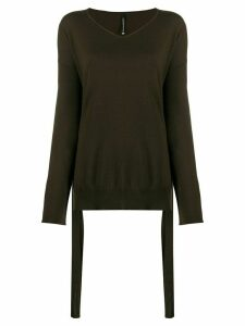 Pierantoniogaspari side strap relaxed-fit jumper - Brown