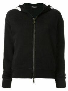 Dsquared2 logo trim hoodie - Black