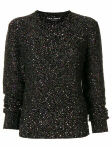 Dolce & Gabbana metallized sequin-embellished jumper - Multicolour