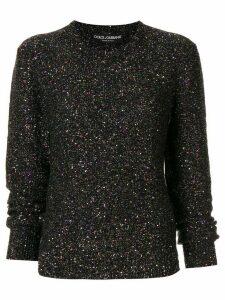 Dolce & Gabbana metallized sequin-embellished jumper - Multicolour