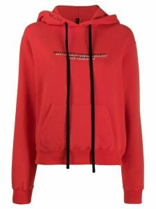 Unravel Project slogan print hoodie - Red