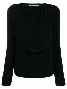 Comme Des Garçons Comme Des Garçons front flap knit sweater - Black