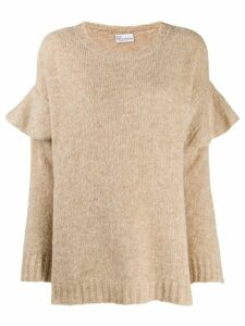 Red Valentino ruffle detail jumper - NEUTRALS