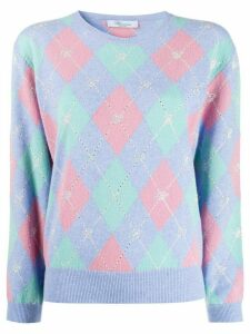 Blumarine geometric-print jumper - Purple