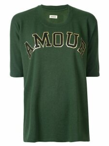 Zadig & Voltaire oversized logo print T-shirt - Green
