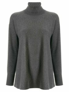 Le Ciel Bleu knitted turtleneck top - Grey