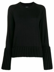 Mm6 Maison Margiela ribbed cuffs jumper - Black