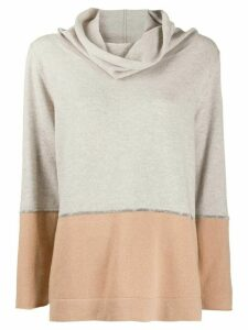 Fabiana Filippi cowl neck jumper - NEUTRALS