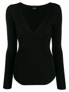 Pinko long-sleeve fitted sweater - Black