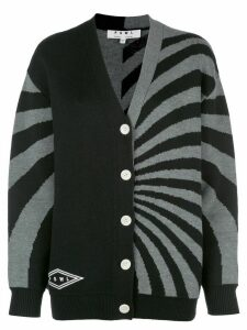 Proenza Schouler White Label striped knitted cardigan - Black