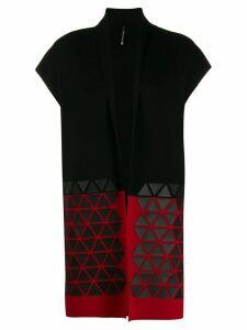 Pierantoniogaspari colour-block sleeveless cardigan - Red