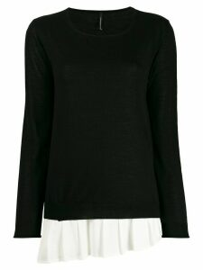 Pierantoniogaspari contrasting-hem layered jumper - Black