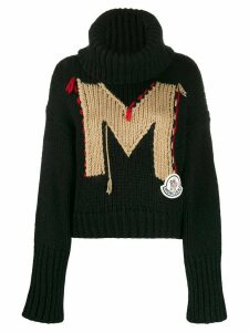 Moncler monogram knitted jumper - Black