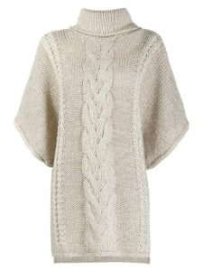 La Fileria For D'aniello cable knit jumper - NEUTRALS