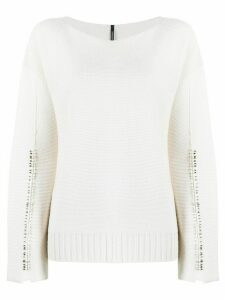 Pierantoniogaspari safety-pin detail jumper - NEUTRALS