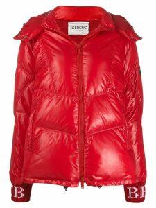 Iceberg hooded puffer jacket - Red