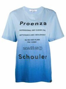 Proenza Schouler tie dye Dry Clean T-shirt - Blue