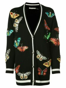 Alice+Olivia Bradford butterfly-patch cardigan - Black