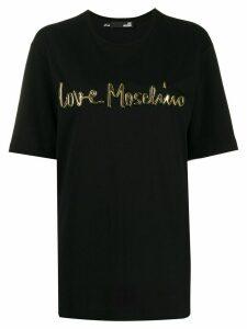 Love Moschino 3D logo print T-shirt - Black
