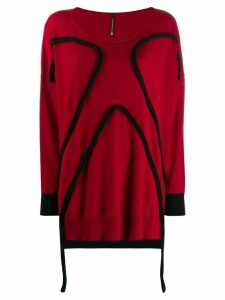 Pierantoniogaspari piped trim jumper - Red