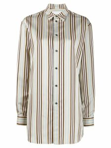 Jil Sander striped long shirt - Blue