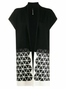 Pierantoniogaspari colour-block sleeveless cardigan - Black