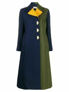 Tory Burch flip-lock color-block coat - Blue