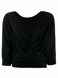 Brunello Cucinelli twisted long-sleeve top - Black