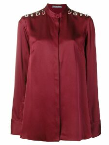 ALEXANDER MCQUEEN bug embellished blouse - Red