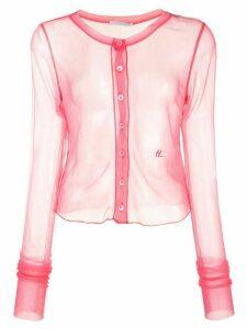 Helmut Lang sheer button shirt - PINK