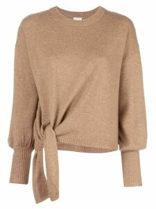 Cinq A Sept Clerisa tie-detail jumper - Brown